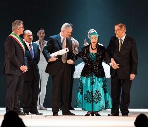 Michele De Lucia, Alfio Agostini, Alicia Alonso e Pedro Simón Martínez -Foto Vito Fusco